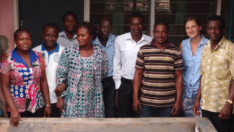 The whole Trax Ghana staff team: (l-r) Zulehatu, Tijani, Botozan, Disiwani, Soloman, William, Thomas, Dorien, and Vincent