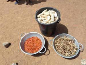 The maize, pepper and cowpea harvest
