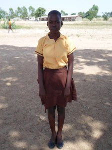 Ayinpoka, one of the recipients of a scholarship